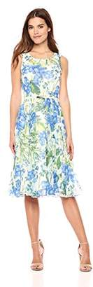 Gabby Skye Women's All Over Floral Printed a-Line Dress
