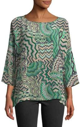 M Missoni Zigzag Mosaic Silk Top