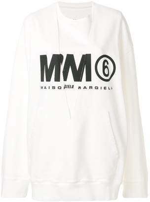 MM6 MAISON MARGIELA logo printed sweatshirt