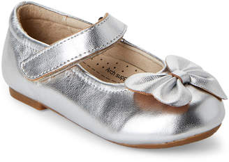 Old Soles Toddler Girls) Silver Flower Girl Mary Jane Flats
