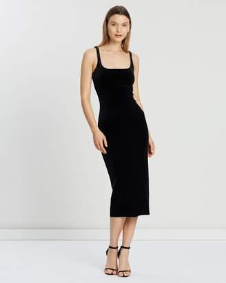 Bec & Bridge Velours Midi Dress