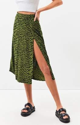 Motel Rocks Green & Black Saika Skirt