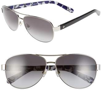 14011a84a4 Kate Spade New York Aviator Sunglasses - ShopStyle