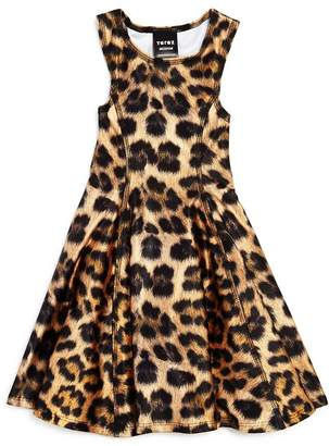 Terez Girls' Leopard Print Skater Dress - Little Kid