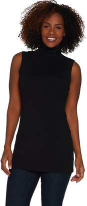 Women With Control Women with Control Long and Lean Sleeveless Funnel Neck Top