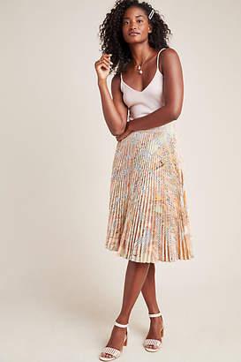 Geisha Designs Aurora A-Line Midi Skirt