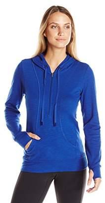 Lucy Women's Sexy Sweat Half-Zip Hooded Sweatshirt $39.51 thestylecure.com