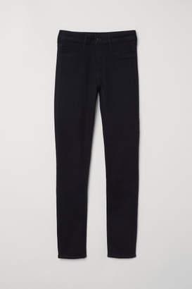 H&M Skinny Regular Ankle Jeans - Black