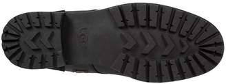 UGG Kilmer Exposed Faux Fur Ankle Boot - Black