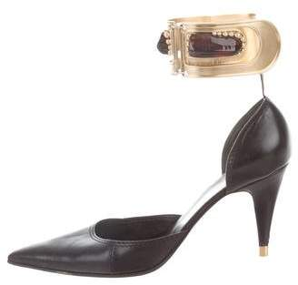 Chloé Pointed-Toe Ankle Strap Pumps