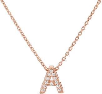 Diamonique Pave' Initial Necklace Sterling