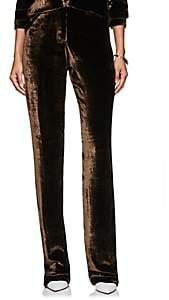 Juan Carlos Obando Women's Velvet Five-Pocket Trousers - Brown
