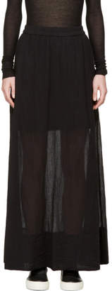 Raquel Allegra Black Gauze Maxi Skirt