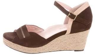 Taryn Rose Suede Wedge Sandals