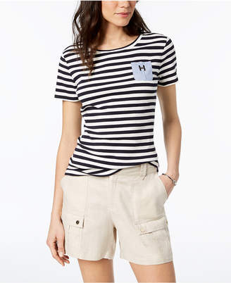 Tommy Hilfiger Cotton Chambray-Pocket T-Shirt, Created for Macy's