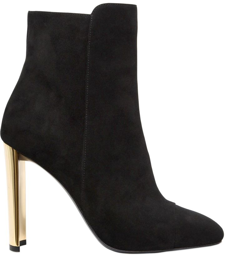 105mm Suede Ankle Boots