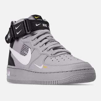 Nike Boys' Big Kids' Force 1 Mid LV8 Leather Casual Shoes