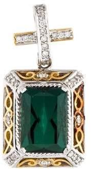 14K Green Tourmaline & Diamond Pendant