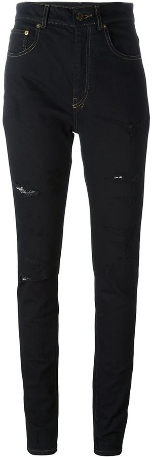 Saint LaurentSaint Laurent distressed skinny jeans