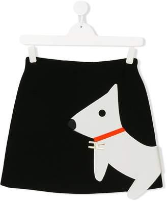 Elisabetta Franchi La Mia Bambina TEEN dog applique skirt