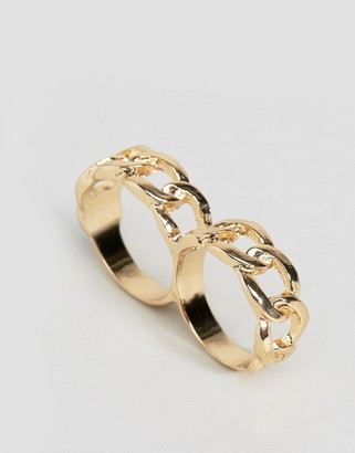 ASOS Linked Chain Double Finger Ring $9.50 thestylecure.com