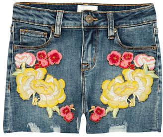 Hudson Girls' Garden Embroidered Denim Shorts, Size 7-16