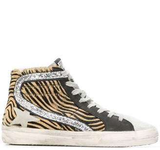 Golden Goose animal printed sneakers