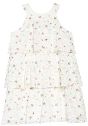 Zunie Embroidered Lace Tiered Dress (Toddler Girls, Little Girls & Big Girls)