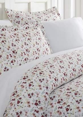IENJOY HOME Home Spun Premium Ultra Soft 3-Piece Blossoms Print King Duvet Cover Set - Pink
