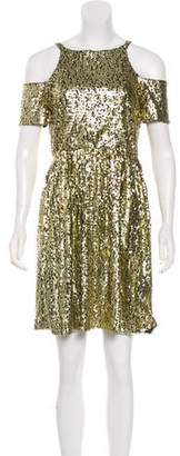 Blumarine Cold Shoulder Sequin Dress w/ Tags