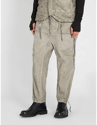 Boris Bidjan Saberi Coated regular-fit cotton trousers