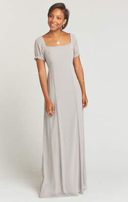 Show Me Your Mumu Brittany Maxi Dress ~ Dove Grey Chiffon