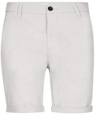 Topman Mens Grey Gray Stretch Skinny Chino Shorts