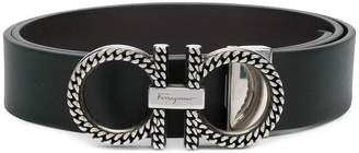 Salvatore Ferragamo chain trimmed Gancio belt