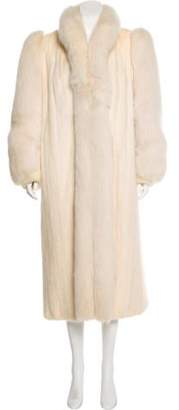 Fur Fox-Trimmed Mink Coat