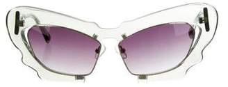 Prabal Gurung x Linda Farrow Oversize Tinted Sunglasses