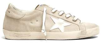 Golden Goose Superstar Low Top Suede Trainers - Womens - White
