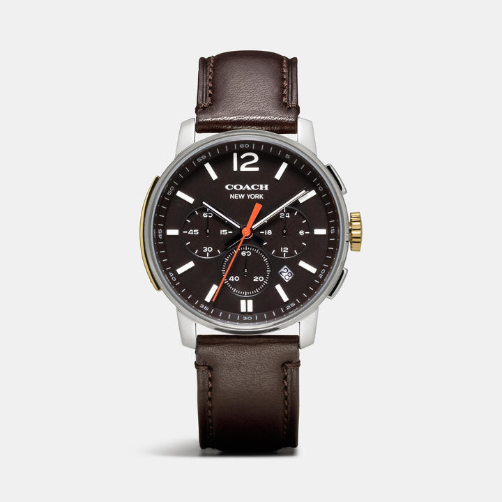 Coach Bleecker Stainless Steel Chrono Strap Watch