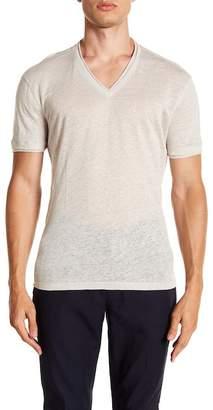 John Varvatos Collection Linen V-Neck T-Shirt