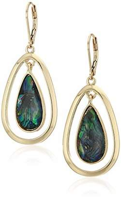 Anne Klein Women's Gold Tone Stone Drop Earrings