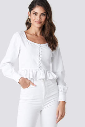 Na Kd Trend Frill Detailed Button Up Blouse White