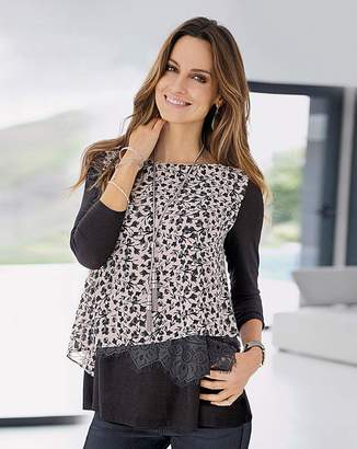 Together Jersey Print Top