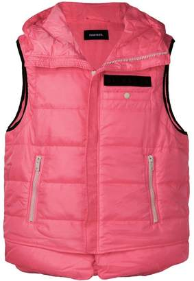 Diesel padded hooded gilet