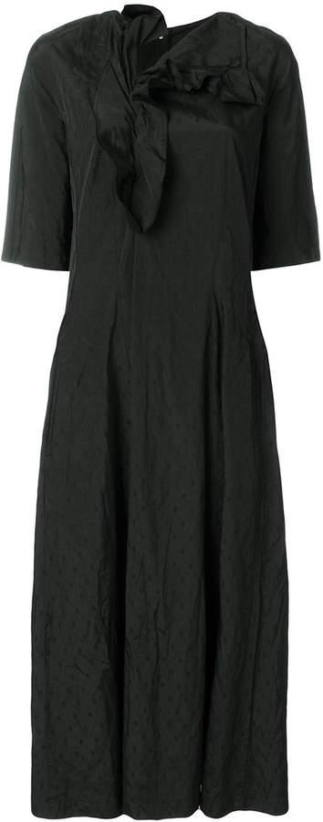 ruffle neckline dress