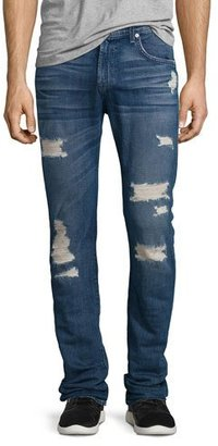 7 For All Mankind Paxtyn Distressed Denim Jeans, Forgotten Cove $249 thestylecure.com
