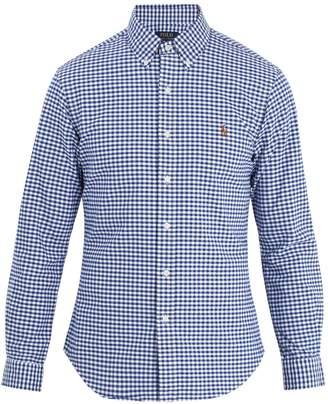 Polo Ralph Lauren Logo-embroidered gingham cotton shirt