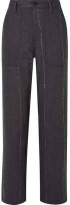 RtA Sergeant Striped Cotton-blend Twill Straight-leg Pants - Gray