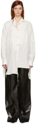 Loewe White Stripe Asymmetric Shirt