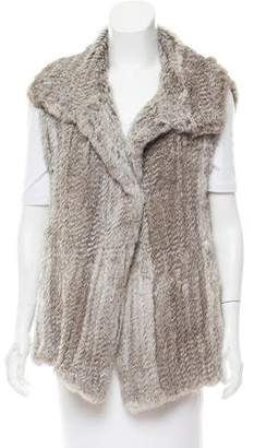 Calypso Knitted Open Front Fur Vest