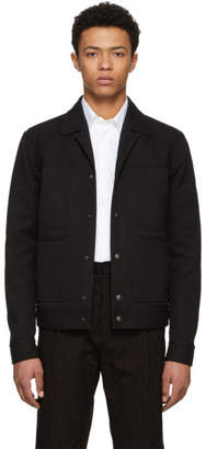 Bottega Veneta Black Heavy Pique Jacket